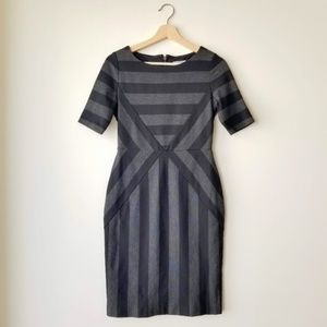 Anthropologie Maeve Geoplane Chevron Striped Dress